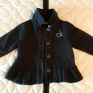 Calvin Klein Girls Cardigan 6-9 Months